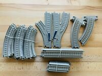 Thomas and Friends Trackmaster Train Track Lot Tan beige 29 Pieces Curves Splits