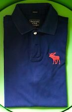 Abercrombie & Fitch Polo Uomo Blu Tg L Muscle Fit