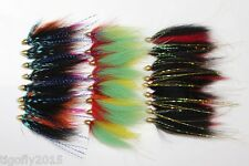 24 pcs Assorted Popular Cone Heads Tube Flies Salmon Fly Trout Fly Fishing Lures