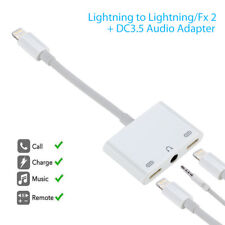 3 in 1 Lightning to 3.5mm Aux Earphone Jack Charger Adapter For iPhone 7 8 X XS