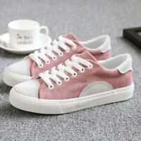 Fashion Women's Canvas Breathable Lace Up Flats Athletic Casual Shoes Summer New