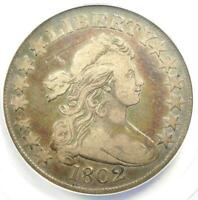 1802 Draped Bust Half Dollar 50C Coin - Certified ANACS VF20 - Rare Date!