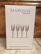 New in Box~Marquis by Waterford Champagne Flute~Set of 4 NEW~(MSRP $100.00)
