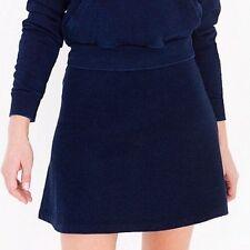 American Apparel Indigo Terry Sporty Dark Wash Indigo Skirt Short Mini Small