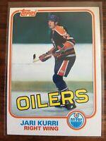 Jari Kurri Topps RC1981-82 #18 Edmonton Oilers Rookie HOF NM-MT NHL Hockey Card