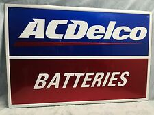 AC DELCO BATTERIES ~ Aluminum Sign