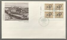 1985 Canada 68c Spinning Wheel Heritage Utensils Plate Block FDC First day Cover