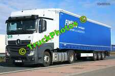 Truck Photo TR-00044 Mercedes Actros Reg:- JAE632 Op:- Finejas M20 Dover Lorry