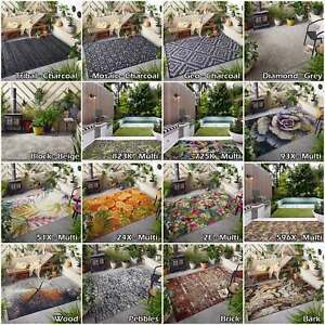 Quality Patio Conservatory Modern Rugs Flatweave Area Large Indoor Outdoor Rugs
