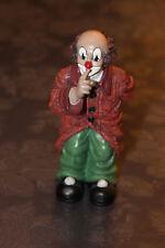 """Gilde Clown """"Pssst"""" mit Blumen hinter dem Rücken, ca 15,5 cm hoch"""