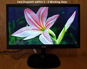 "LG 19.5"" inch HD LED Widescreen VGA Monitor. LG 20M35A-B. Display diagonal: 49.5"