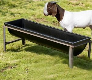 4x 100 cm long  trough feeders for sheep,goat, horses, live stock very strong