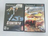 Stuntman & Stuntman Ignition PS2 Used Tested Ships Fast! Both Complete