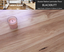 12mm Blackbutt Laminate Flooring Floating Timber  Floor boards Click DIY