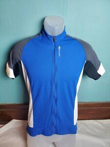 Sugoi Full Zip Cycling Jersey Men's Medium M Blue White