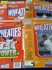 Vintage Folded Wheaties Boxes Lot of 4 - Ruth - Mays - Griffey Jr. - McGwire MLB