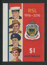 RSL 1916-2016 - MINT EX-BOOKLET SELF-ADHESIVE (GO206)