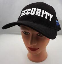 Jerry Springer Security Hat Black Adjustable Baseball Cap Pre-Owned ST184