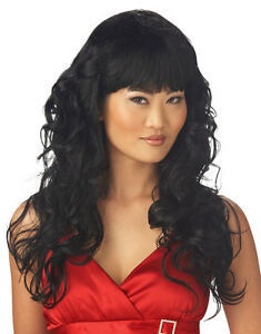 Rock Star Adult Costume 80s Rocker Girl Black Halloween Wig Hair Band Accessory