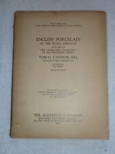 TOM G. CANNON Porcelain Collection, ANDERSON GALLERIES, NY, 1916 Catalog #2216