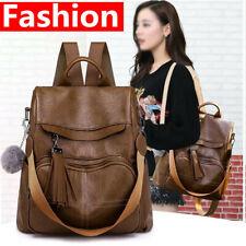 Women Leather School Backpack Travel Handbag Shoulder Bag Shopper Satchel