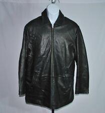 Brooks Brothers Geniune Black Leather Full Zip Jacket Men's Sz M