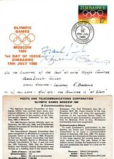 Olympic Games Zimbabwe Cover Signed First Day of Issue Africa