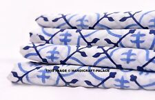 "Hand Block Printed Cotton Pure Soft Cotton Fabric 10 Yard 44"" Dress Making"