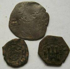 Lote de tres monedas españolas a identificar
