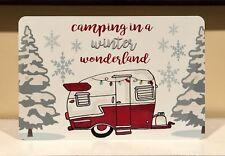 Camping Metal Sign - Camping Decor -Christmas Camping Sign - Vintage Camper