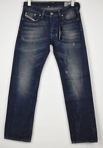 RRP €150 DIESEL LARKEE C859Y Men's W30/L32 Straight Distressed Jeans 11676 mm