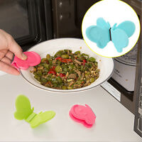 Kitchen Tableware Butterfly-Shaped Silicone Anti-Scald Clip Device Gadget Tool