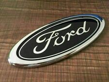 Ford Black 150mm Rear Front Badge Transit Focus Mondeo Oval Chrome Boot