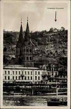 BOPPARD Rhein s/w AK Hotel Spiegel Schiff 1951 gelaufen Postkarte Ansichtskarte