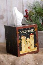 Country snowmen family chippy decor tissue box cover /nice winter decor