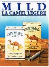 PUBLICITE ADVERTISING  1985   CAMEL  cigarettes MILD
