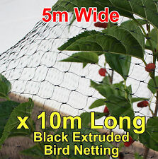5mtr wide x10mtr  BLACK Anti Bird Netting, Fruit / Plant Tree Bird Netting / Net