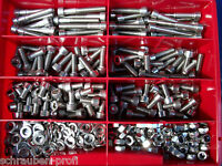 355 Teile Edelstahl V2A Innensechskant Schrauben Din 912 Muttern Box M4 - M8