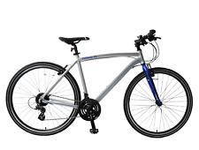 """Pathway X2 700c Hybrid Trekking Mens Bike 17"""" Frame Lightweight Silver 24 Speed"""