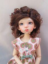 Monique BIANCA Wig Dk Reddish Auburn Size 8-9 BJD shown on Mei Mei by Kaye Wiggs