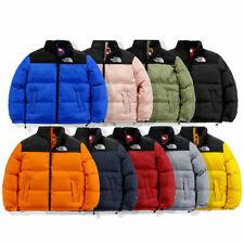 UK Men Women  Zip Warm Winter Outdoor Duck Down Jacket Hoodied Tops Casual Coat