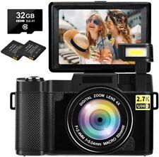 30MP Full HD 2.7K Digital Camera with Retractable Flash Light Camera 3 Inch Flip
