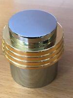 Chrome w/Brass Trim Shower Handle Fluidmaster Sure-Fit  606D Two Tone, Fits All!