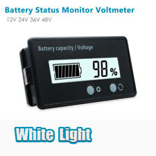 LCD 12V-48V Lead-Acid Battery Capacity Status Voltage Voltmeter Monitor Meter UK