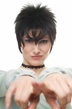 Kess & Séduisant Perruque Pour Femme noir court Style des années 80 Retro Punk