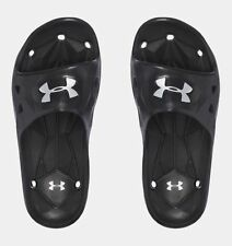 1e3b0b8c7ab7 Under Armour Boys Locker III Slides Sandal Black 6 M US Big Kid