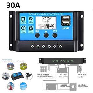 30A Car Parameter Adjustable USB Solar Panel Battery Regulator Charge Controller