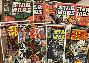 STAR WARS ~ Lot Of 11 Issues #15-83 🔥 🔑 🔥 Free Shipping! Marvel 1977