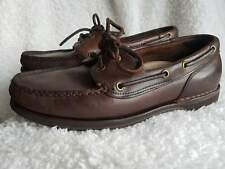 Rockport Moccasin Size UK 8.5 W Brown Loafer Leather Shoes