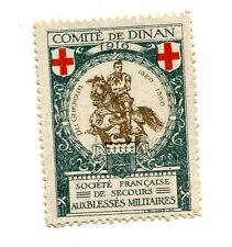 Poster Stamp Label France COMITE DE DINAN 1916 BLESSES MILITAIRES Wounded Slders